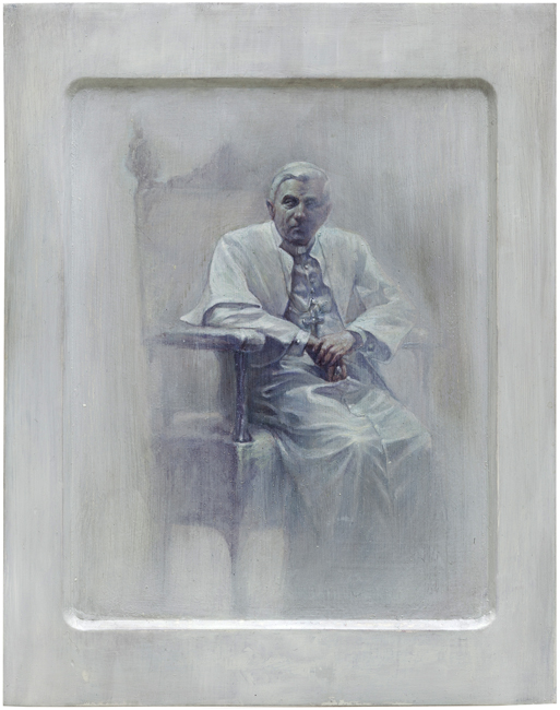 Pope Benedict XVI, 2013, oil on icon board, in private collection