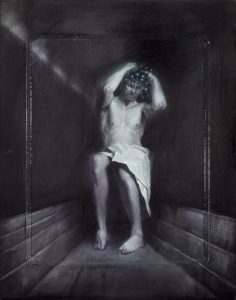 Christ Mass Ghost, 2013, oil on icon board, 25 x 21 cm, 1800 €